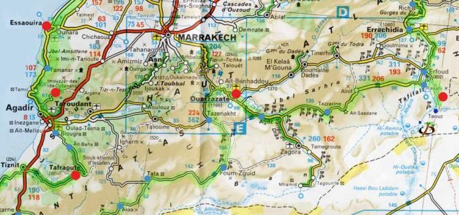 carte-routiere-sud-maroc